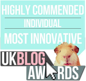 Most Innovative Blogger #UKBA16